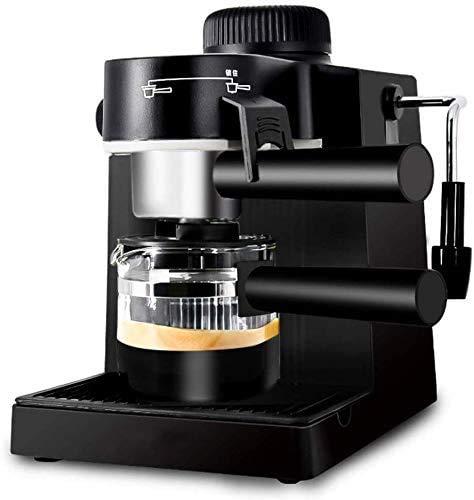 HYCQ Accueil Semi-Automatique Machine à Expresso Vapeur, Machine à Expresso Goutte à Goutte, 5 Pompe à Bar et trayeur Automatique, Machine à Cappuccino, café au Lait Machine