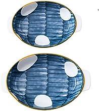 أطباق وأطباق فاخرة من السيراميك الصيني من كوتا جابان مقاس 27.94 سم و22.86 سم على الطراز الأسيوي مجموعة من قطعتين. أدوات ما...