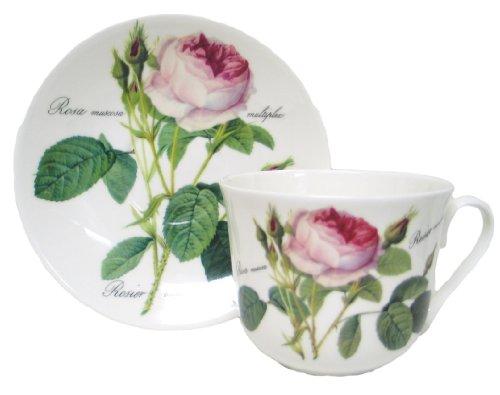 Jumbotasse mit Untertasse Redoute Roses von Roy Kirkham