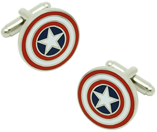 MasGemelos - Boutons de Manchette Captain America Cufflinks