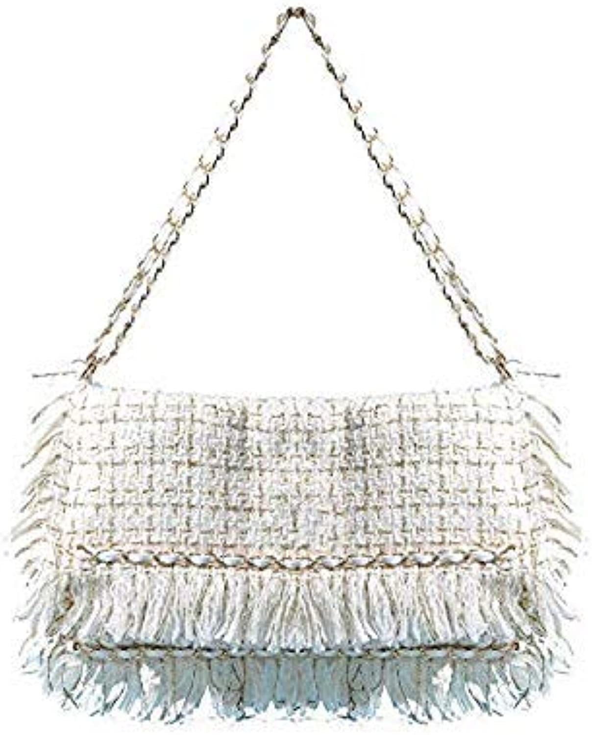 Bloomerang ROYI ICE 2018 New Fringe Single Women Bags Fashion Wool Upper Fold Over Messenger Bags No Pocket Cover Ladies Small Large Bags color Beige Big
