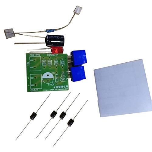 nbvmngjhjlkjlUK Brückengleichrichter Wechselstrom-Gleichstrom-Stromrichter, 1N4007 Brückengleichrichter Wechselstrom-Gleichstrom-Wandler Vollwellengleichrichterplatinen-Kit Stromrichterteile (grün)