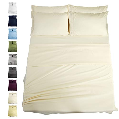 EASELAND 6-Pieces Queen Size Bed Sheets Set 1800 Series...