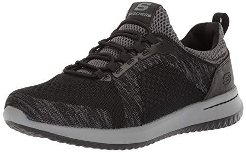 Skechers USA Men's Men's Relaxed Fit-Delson-Brewton Sneaker,10.5 M US,black/black