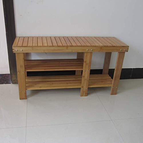 Zapatero Banco de Zapatos de bambú de 3 Niveles, con Compartimento para Botas, Organizador de Almacenamiento, Estante para gabinete, 33.8x11x17.7in, Ideal para Pasillo, baño, Sala de Estar y Pasillo