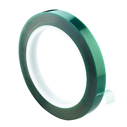 NO LOGO Grünes Klebeband Hitzebeständiges Hochtemperatur-Abschirmband, Lötbeschichtung, Isolationsschutz 10 Mm / 20 Mm / 30 Mm Paste (Color : Green, Size : 33M)