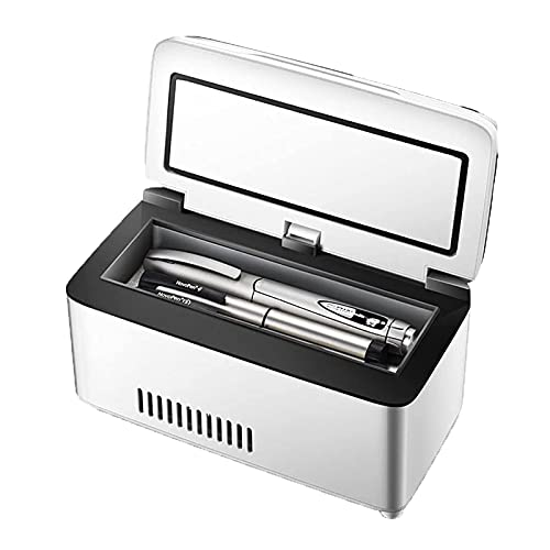 Enfriador De Insulina, Pantalla LED 2-8 ℃ Refrigerador De Medicinas, Mini Refrigerador Portátil Adecuado para Viajes Familiares De Camping
