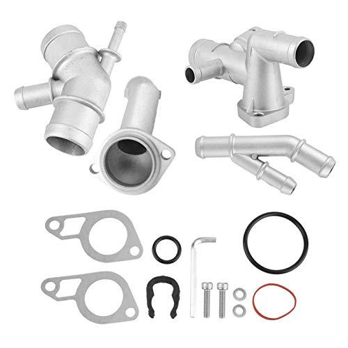 Carcasa del termostato, carcasa del termostato de aluminio fundido CNC de tubería de agua para MK4 Golf Jetta 1.8T