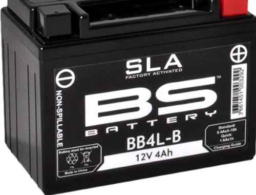 Batería para moto BS SLA BB4L-B (YB4L-B) AGM – Sin mantenimiento – 12 V 4 Ah – Dimensiones: 120 x 70 x 92 mm compatible con Derbi Hunter 50 1996 – 1997