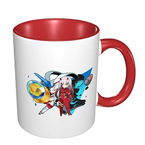 IUBBKI Zero Two Darling In The Franxx Anime 3D Pattern Tazas de café de cerámica
