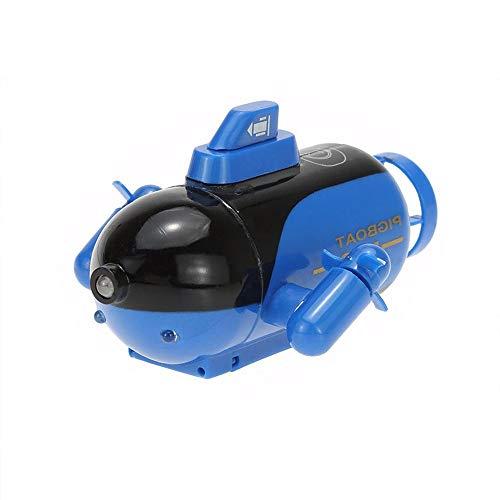 YYQIANG Mini RC Submarine Barca Modello Telecomando Elettronico Impermeabile Subacquea Sommergibile Giocattolo Per Bambini Compleanno 9.5 * 7.5 * 5cm (Colore: Giallo)