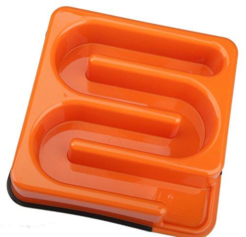 M-PETS Labyrinth Slow Feed Bowl Square Orange pour Chien Orange