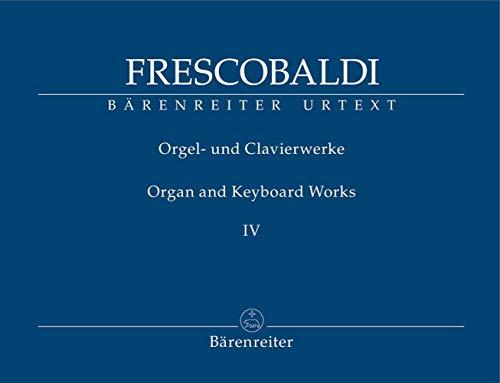 Girolamo Frescobaldi Orgel- y Clavierwerke 4 / Bärenreiter Urtext BA8415 9790006524983