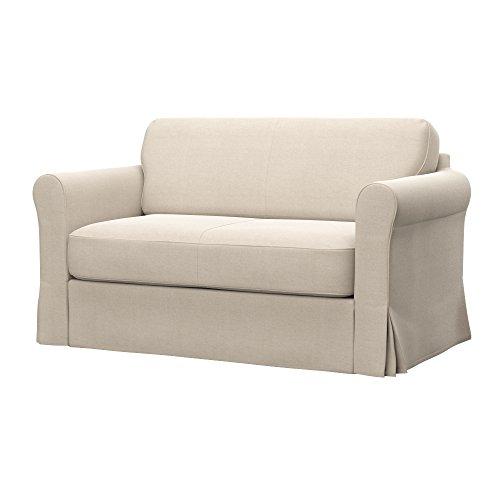 Soferia - IKEA HAGALUND Funda para sofá Cama, Elegance Creme