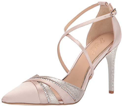 Jewel Badgley Mischka Women's DIAMOND Shoe, champagne satin, 7 M US