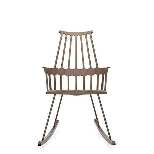 Kartell Comback Hazelnut Rocking Armchair with Oak sled