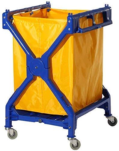 ZGQA-AOC Multifunción portátil Cesta carretillas de mano, Servicio de herramienta de plegamiento de lino coche con la rueda universal, móvil X-Tipo de almacenamiento del balanceo de la carretilla for
