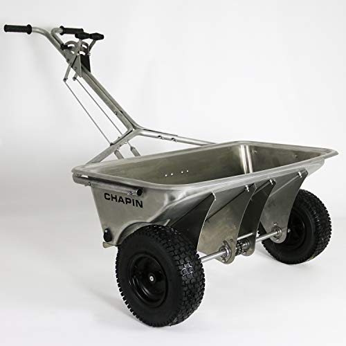 Chapin International 8500B Chapin Professional Rock Salt Drop Spreader, Stainless Steel, 200 Lb, Stainless