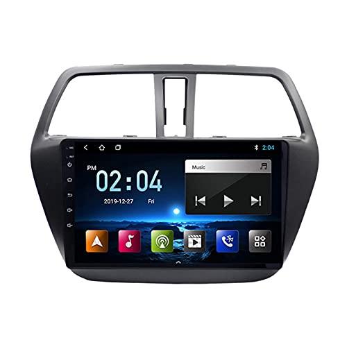 Reproductor MP5 para Estéreo Coche, para Suzuki S-Cross 2014-2017 Radio del Coche con Pantalla Táctil HD Bluetooth USB Soporte FM Radio Control del Volante 1080P Video,Octa Core,4G WiFi 4+64