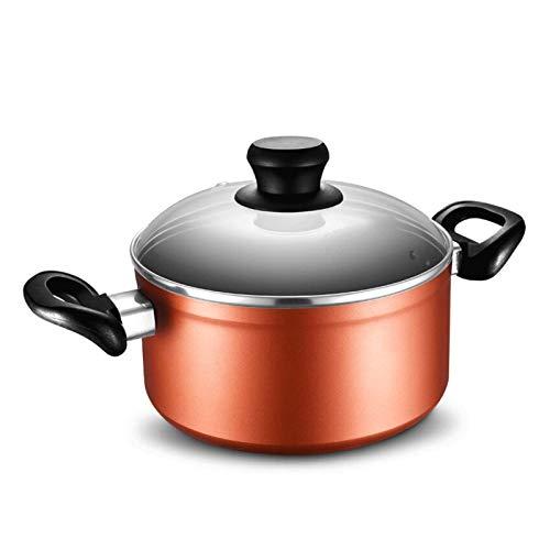 Olla de cocina de cerámica olla sana cazuelas Binaural olla de sopa de fondo grueso, cacerola, antiadherente y fácil de limpiar, olla de sopa de cazuela, apta para estufa de gas, cocina de inducción