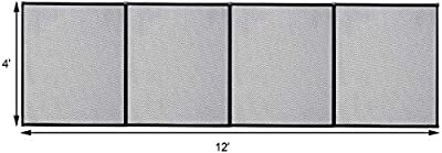 HAPPYGRILL Large 4'X12' Swimming Pool Fence Child Barrier Pool Safety Mesh Fence Section