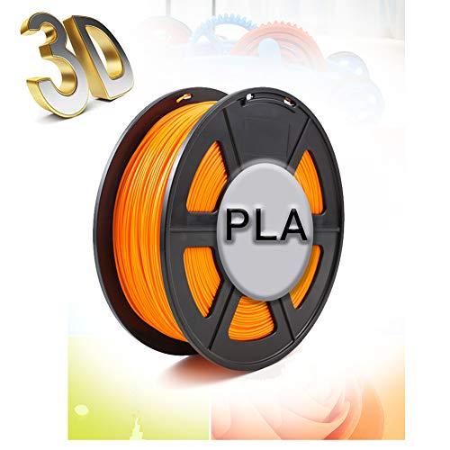 3D-Bedrucktes Filament,Filament PLA 1.75 Mm,Maßgenauigkeit +/- 0,02 Mm,1 Kg/Spule,1.75 Mm,Umweltfreundliches Filament,Geeignet Für 3D-Drucker,Orange