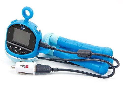 DURAGADGET Chargeur Voiture USB pour Vtech Kidizoom Flix Appareil Photo Enfant Rose ou Bleu