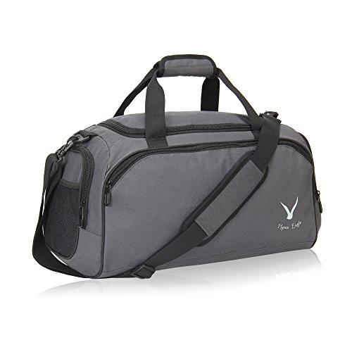 Hynes Eagle Small Gym Bag Sports Duffel Bag Travel Carry on 18 inch, Grey