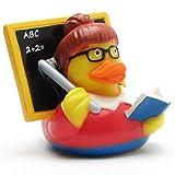 Duckshop Lehrerin Badeente I Quietscheente I L: 10 cm
