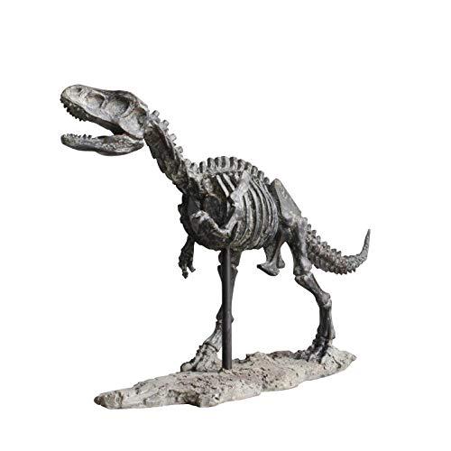 QIBAJIU Objets De Décoration Petite Statue Tyrannosaurus Squelette Fossilisé Home Decor Monde Dinosaure Résine Fraîche Art Travail Décoration