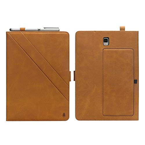 wangqianli For Samsung Galaxy Tab S4 10.5 Inch 2018 SM-T830/T835 Premium PU Leather Double Stand Tablet Case With Auto Sleep/Wake Full Cover (Color : Light Brown)