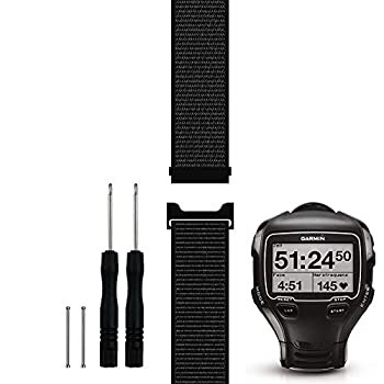 C2D Joy Only Compatible with Garmin Forerunner 910XT Replacement Band with Pins and Pin Removal Tool Sport Mesh Strap Soft Breathable Nylon Weave Accessories Watchband - 10# L/6.7-9.5 in.