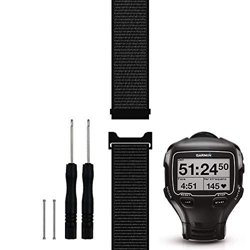 C2D Joy Only Compatible with Garmin Forerunner 910XT Replacement Band with Pins and Pin Removal Tool, Sport Mesh Strap Soft, Breathable Nylon Weave Accessories Watchband - 10#, M/5.5-7.9 in.
