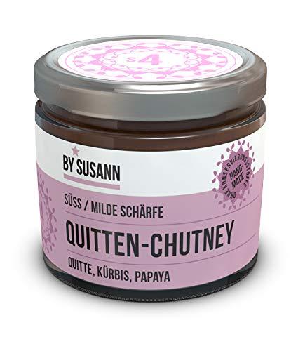 BY SUSANN – S4 QUITTEN-CHUTNEY im Glas (1 x 150 g), Geschmackserlebnisse mit intensiven und natürlichen Aromen, süß, milde Schärfe