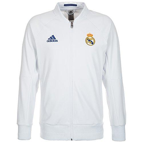 adidas Herren Real Madrid Anthem Heim Jacke, Crystal White/Raw Purple, S