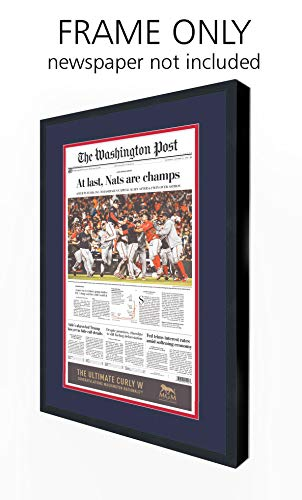 Washington Post Newspaper Frame - with Washington Nationals Colors Double Mat