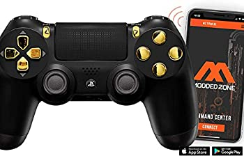 Black/Gold PS4 PRO Smart Rapid Fire Modded Controller Mods for FPS All Major Shooter Games Warzone & More  CUH-ZCT2U