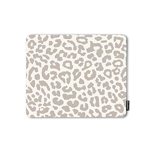 Moslion Mouse Pad Leopard Print Safari Wildlife Animal Theme Pattern Cheetah Tiger Gaming Mouse Mat Non-Slip Rubber Base Thick Mousepad for Laptop Computer PC 9.5x7.9 Inch
