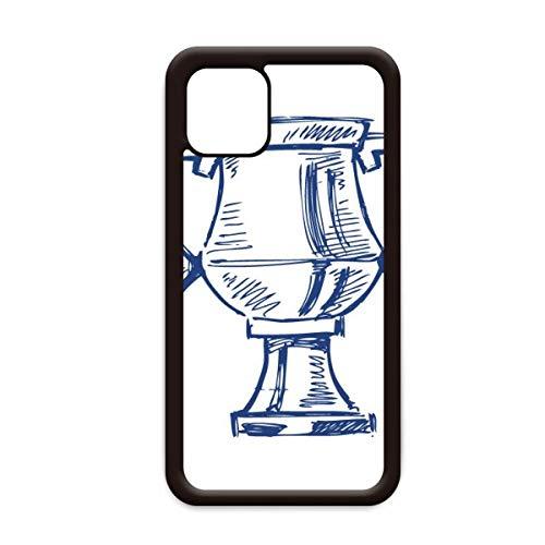 Voetbal Kampioenschap Trofee Blauw voor Apple iPhone 11 Pro Max Cover Apple mobiele telefoonhoesje Shell, for iPhone11 Pro Max