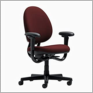 Steelcase Criterion High-Back Work Chair by Steelcase, color = Burgundy