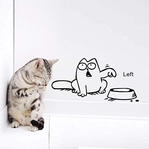 Links Rechts Nieuwste kat nodig voedsel Home Decor Muursticker Mooie Keuken Huisdier Store Auto Stickers voor Kids Room