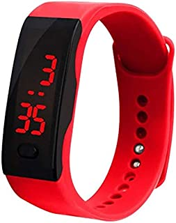 Delicate LED Digital Display Bracelet Watch for Children Girls Boys studens Kids Silica Gel Sports Watc Digital Wrist Watc...