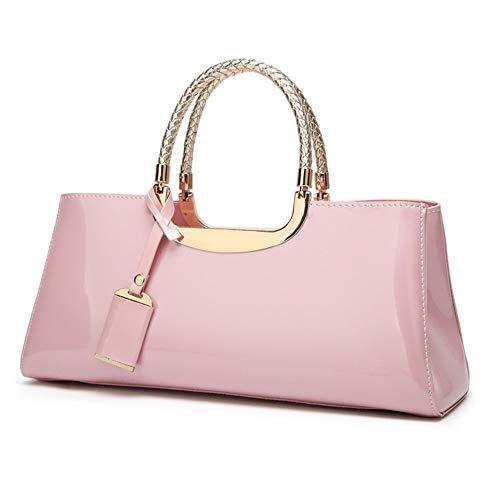 TEYUN - Bolsa portátil para cenas de novia, diseño diagonal (color: rosa)
