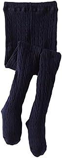 Jefferies socks ジェフリーズ ソックス キッズ ケーブルニットタイツ ホワイト/グレー/ピンク/ネイビー [1560]