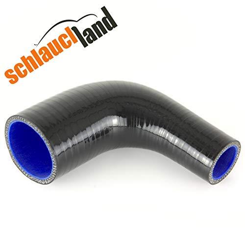 90° Silikon-Reduzierbogen ID 76-54mm schwarz*** Silikonschlauch Reduzierstück Kühler LLK