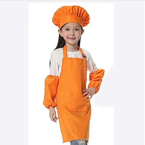 UUHAI Kinderschort Kids Mouw Hoed Pocket Kleuterschool Keuken Bakken Schilderij Koken Drink Voedsel Enfant