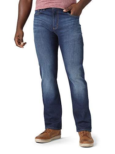 Wrangler Herren Authentics Men's Slim Straight Jeans, Blue Ridge, 34W / 34L