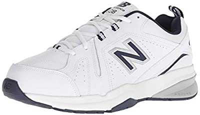 New Balance Men's 608v5 Casual Comfort Cross Trainer Shoe, White/Navy, 10.5 M US