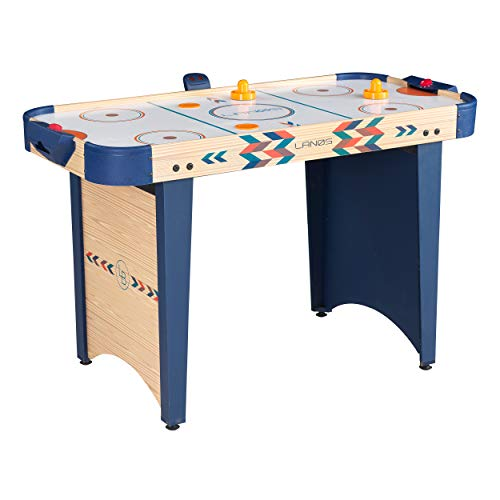 Air Hockey Table for Kids and Adults   4 Foot Air Hockey Game Table with Electronic Scoreboard, Powerful Air Blower, 2 Pushers, and 2 Hockey Pucks   Ice Hockey Game Room Table