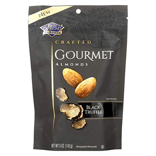 BLUE DIAMOND, ALMONDS, BLACK TRUFFLE, Pack of 6, Size 5 OZ - No Artificial Ingredients Kosher Vegan Yeast Free